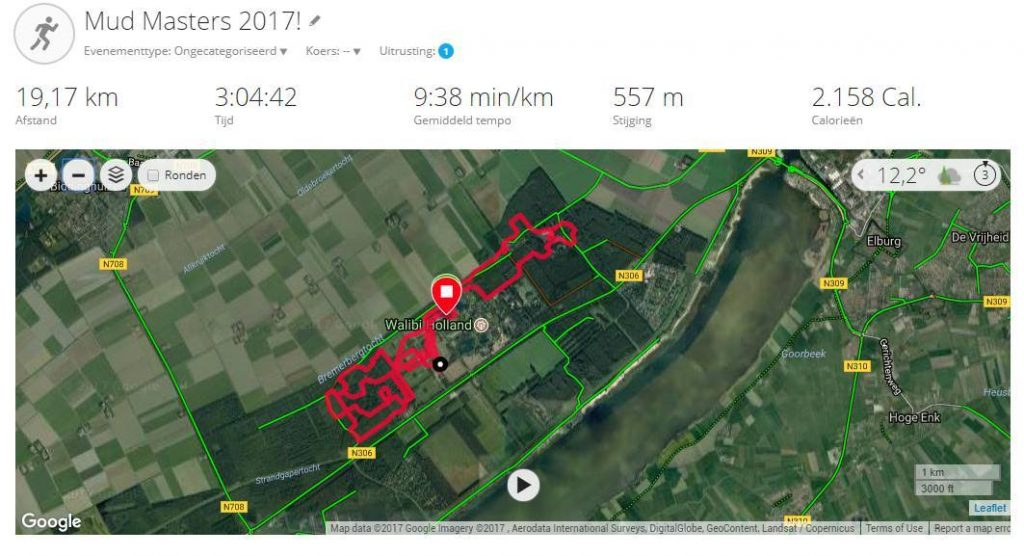 The Software Testing Company - Mud Masters Biddinghuizen 2017 - route